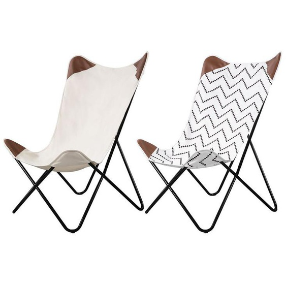 LIVARNO LIVING® Butterfly Stuhl, mit stabilem Metallgestell und abnehmbarem Bezug