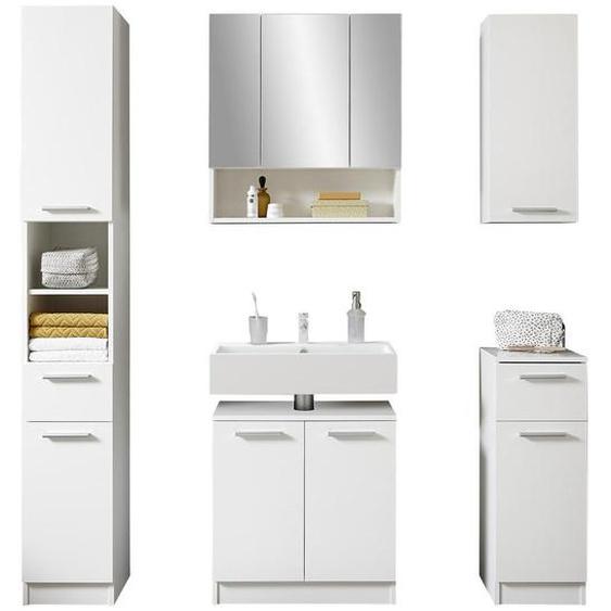 Livetastic Badezimmer in Weiß Weiß , 166 cm