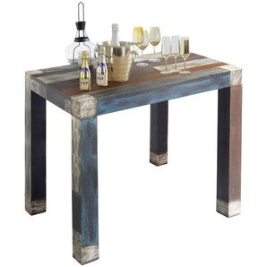 : Tisch, Akazie, Mangoholz, Mehrfarbig, B/H/T 110 105 70