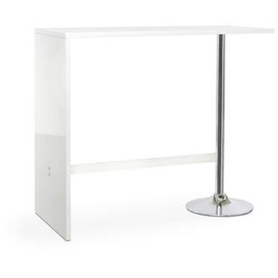 Livetastic Bartisch Weiß , 105x60x120 cm