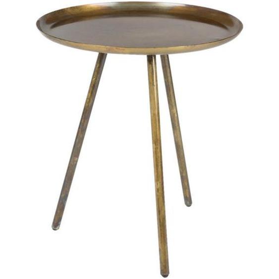 Livetastic Beistelltisch rund Orange , Metall , 39x45 cm