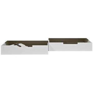 Livetastic Bettschubkasten , Weiß , Holz, Kunststoff , Kiefer , massiv , 198x21x92 cm , Schlafzimmer, Betten, Bettkasten