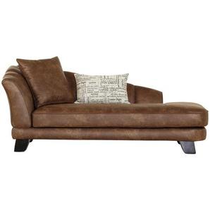 Livetastic Chaiselongue , Braun , Textil , Vintage , 202x80x103 cm , Stoffauswahl ,