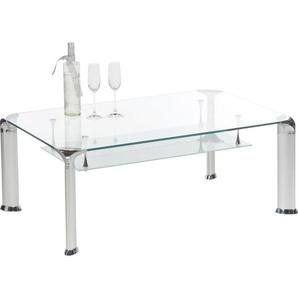 Livetastic Couchtisch , Alu , Metall, Glas , rechteckig , Rundrohr , 70x43 cm , Wohnzimmer, Wohnzimmertische, Couchtische