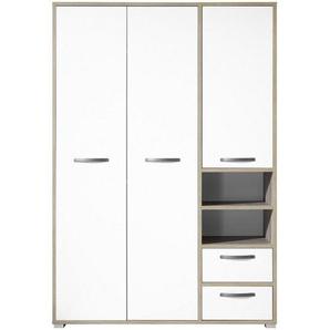 Carryhome: Drehtürenschrank, Holzwerkstoff, Natur, Weiß, B/H/T 138 201 57