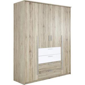 Carryhome: Drehtürenschrank, Holzwerkstoff, Weiß, Eiche, B/H/T 182 225 59