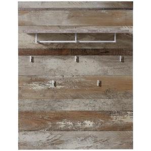 Livetastic Garderobenpaneel , Natur , Metall , 90x116x30 cm , Aufhängemöglichkeit , Garderobe, Garderobenpaneele
