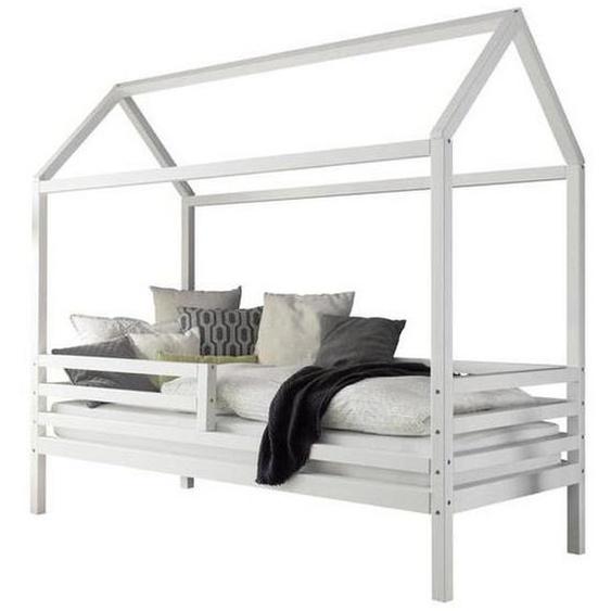 Livetastic Hausbett Weiß , Holz , Kiefer , massiv , 90 cm