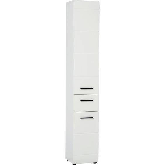 Livetastic Hochschrank Weiß , Holzwerkstoff , 3 Fächer , 1 Schubladen , 30x182x31 cm