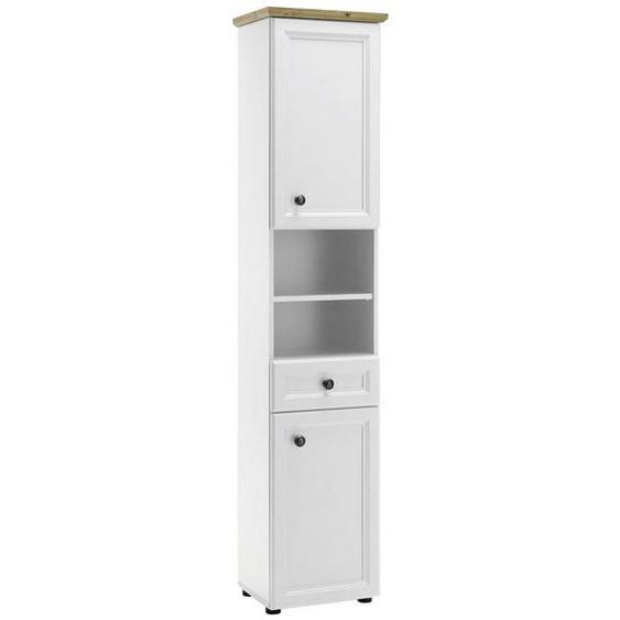 Livetastic Hochschrank Weiß , Holzwerkstoff , Nachbildung , 3 Fächer , 1 Schubladen , 41x191x32 cm