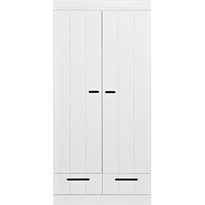 Carryhome: Kleiderschrank, Holzwerkstoff,Kiefer, Weiß, B/H/T 94 195 53