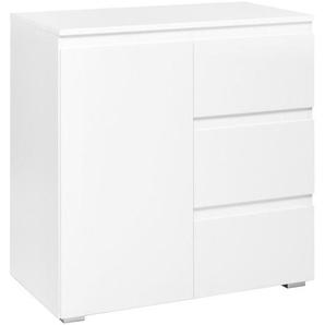 Carryhome: Kommode, Weiß, B/H/T 80 80 40