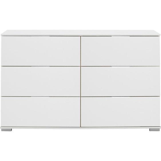Livetastic Kommode Weiß , Metall , 6 Schubladen , 130x83x41 cm