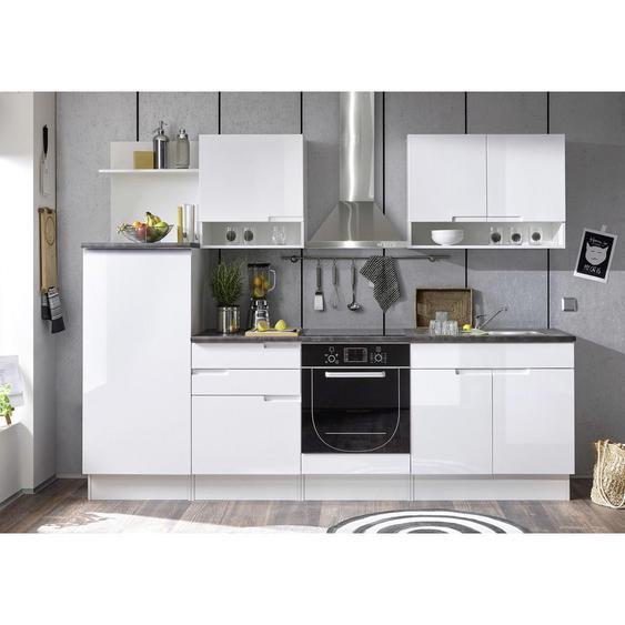 Livetastic Küchenleerblock , Weiß , 2 Schubladen , 270 cm