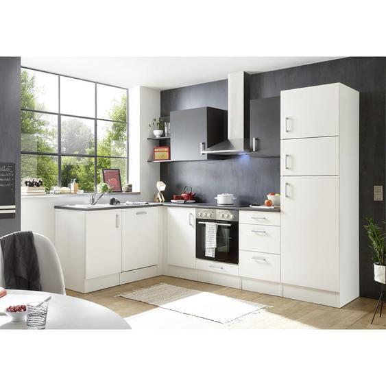 Livetastic Küchenleerblock , Weiß , 3 Schubladen , 175 cm