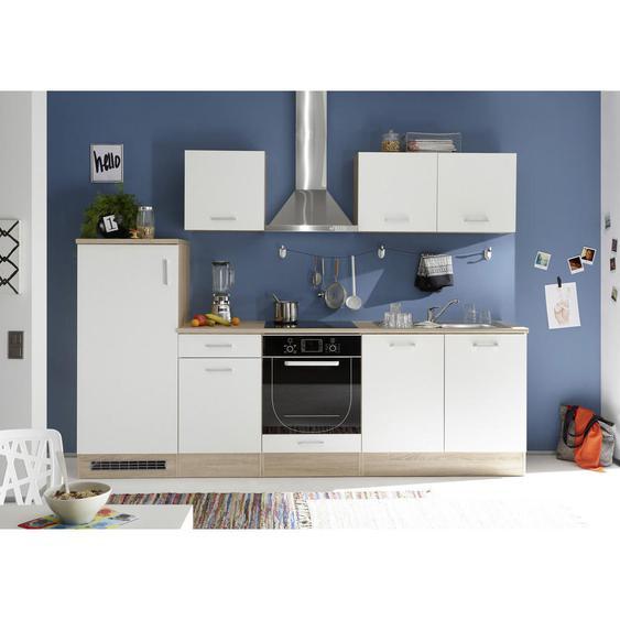 Livetastic Küchenleerblock , Weiß, Beige , 270 cm