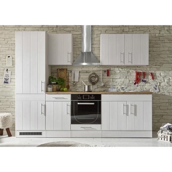 Livetastic Küchenleerblock , Weiß, Eiche , 270 cm