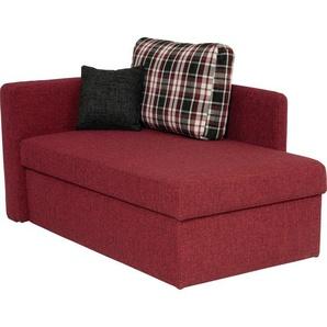 Livetastic Liege Webstoff Rot , Textil , Uni , 3-Sitzer , 142x90x87 cm