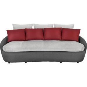 Livetastic: Sofa, Grau, Rot, Schwarz, B/H/T 238 80 143
