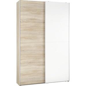 : Eckschrank, Holzwerkstoff, Sonoma Eiche, Weiß, B/H/T 125 195 38