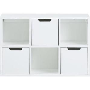 Carryhome: Regal, Weiß, B/H/T 58 39 18