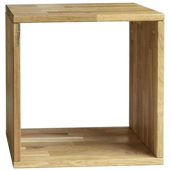 Livetastic Regal Wildeiche massiv Braun , Holz , 38.6x38.6x35 cm