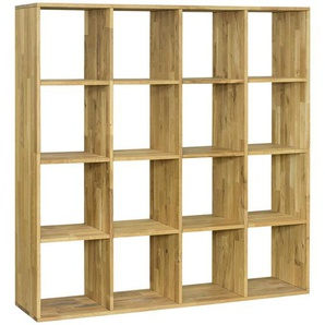 Carryhome: Regal, Holz,Wildeiche, Eiche, B/H/T 149 149 35