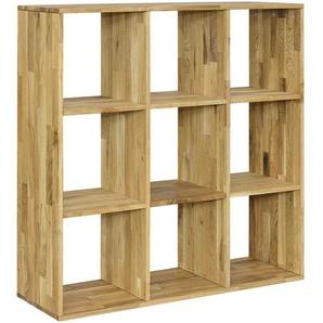 Carryhome: Regal, Holz,Wildeiche, Eiche, B/H/T 112 112 35