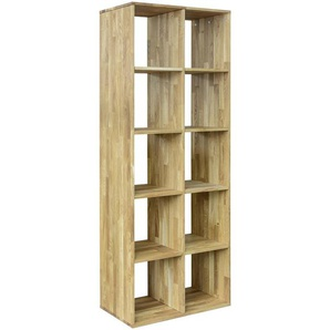 Carryhome: Regal, Holz,Wildeiche, Eiche, B/H/T 76 187 35