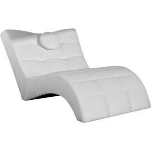Livetastic Relaxliege Lederlook Weiß , Textil , 1-Sitzer , 84x92x170 cm