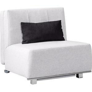Livetastic Schlafsessel Grau , Textil , Uni , 84x88x103 cm