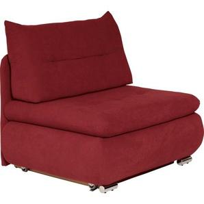 Livetastic Schlafsessel Rot , Textil , 94x86x83 cm
