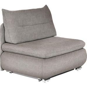 Livetastic Schlafsessel Webstoff Grau, Beige , Textil , 134x86x83 cm