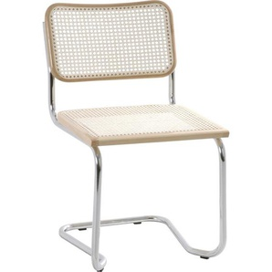 Carryhome: Stuhl, Natur, Chrom, Beige, B/H/T 46 82 48
