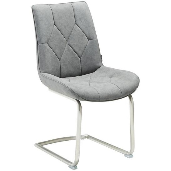 Livetastic Schwingstuhl Lederlook Grau , Textil , 51.50x92.50x61 cm