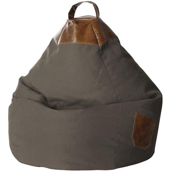 Livetastic Sitzsack Flachgewebe Braun , Textil , 300 L , 80x130x80 cm