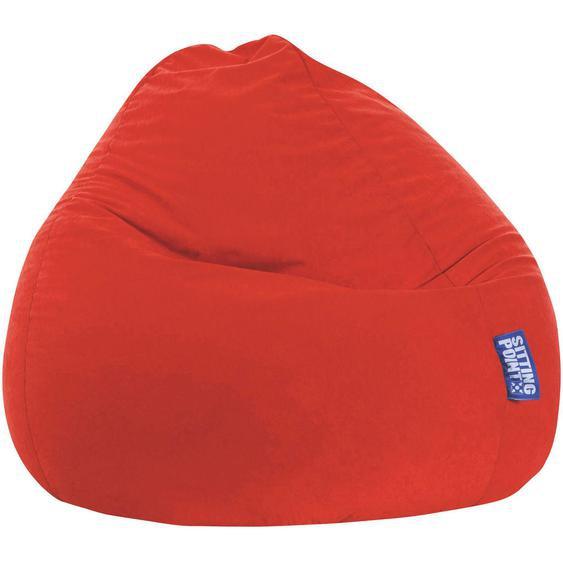 Livetastic Sitzsack Mikrofaser Rot , Textil , 300 L , 80x130x80 cm
