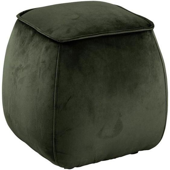 Livetastic Sitzwürfel , Grün , Textil , 40x40x40 cm