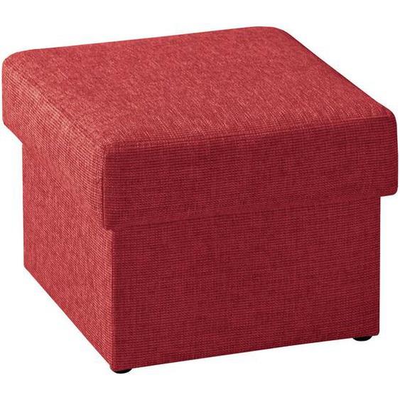 Livetastic Sitzwürfel Rot , Textil , 55x45x55 cm