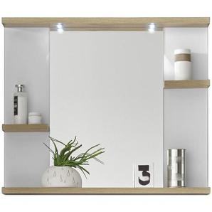 Xora: Spiegel, Eiche, Weiß, B/H/T 80 68 12