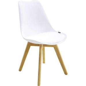 Xora: Stuhl, Weiß, Eiche, B/H/T 48 84 53