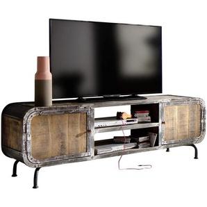 Landscape: TV-Element, Mangoholz, Mehrfarbig, B/H/T 180 60 45