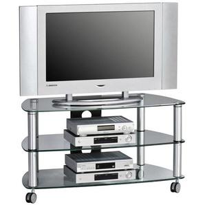 : TV-Element, Alu, Schwarz, B/H/T 95 52,8 51,4
