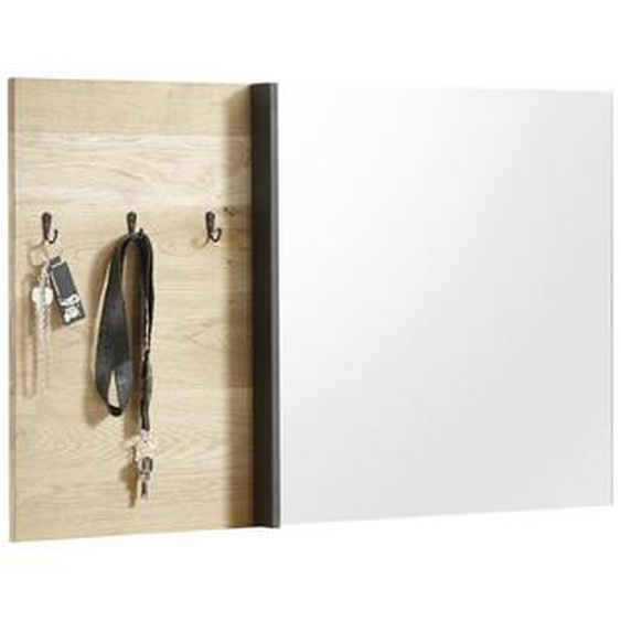 Livetastic Wandspiegel Braun , Glas , massiv , 95x55x4 cm