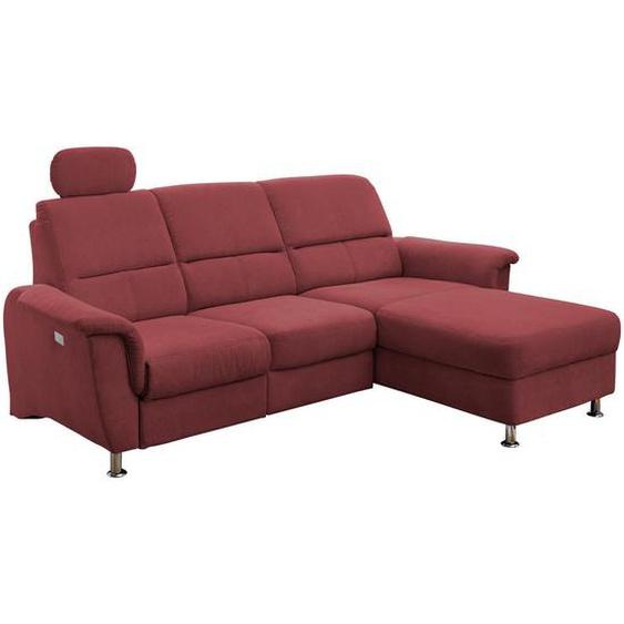 Livetastic Wohnlandschaft Rot Mikrofaser , Textil , Uni , 3-Sitzer , 165 cm