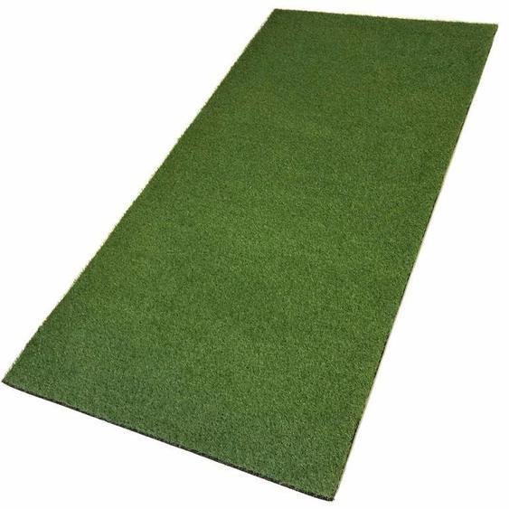 Living Line Kunstrasen Ibiza, rechteckig, 20 mm Höhe, Rasenteppich, grün, strapazierfähig, witterungsbeständig, In- und Outdoor geeignet, Meterware B: 200 cm, 1 St. grün Schlafzimmerteppiche Teppiche nach Räumen