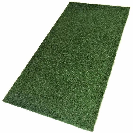 Living Line Kunstrasen Madeira Premium, rechteckig, 32 mm Höhe, Rasenteppich, grün, strapazierfähig, witterungsbeständig, In- und Outdoor geeignet, Meterware B: 200 cm, 1 St. grün Schlafzimmerteppiche Teppiche nach Räumen