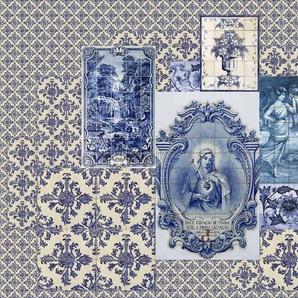 living walls Fototapete Walls by Patel Azulejos 1 B/L: 5 m x 2,7 m, St. grau Fototapeten Tapeten Bauen Renovieren