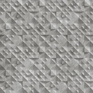 living walls Fototapete Walls by Patel Concrete 2 B/L: 5 m x 2,5 m, St. grau Fototapeten Tapeten Bauen Renovieren