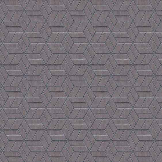 living walls Vliestapete »Metropolitan Stories Lizzy London«, 3D-Optik, geometrisch, grafisch, mit Glitzereffekt